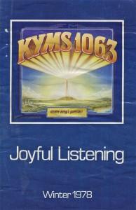 KYMS Program Guide 1978