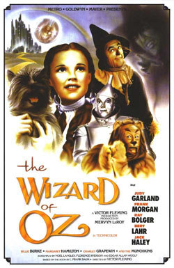 Wizard Of Oz movie poster, 1939
